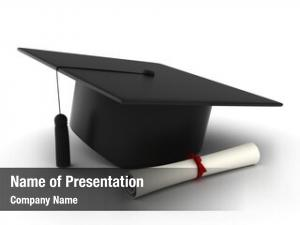 Cap illustration graduation diploma