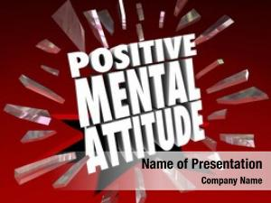 Attitude positive mental words letters
