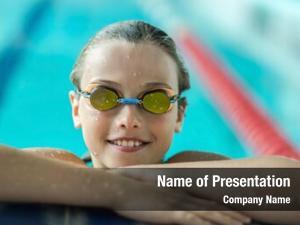 Swimmer child powerpoint theme