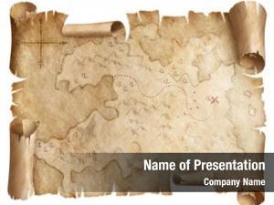 Treasure ancient worn map