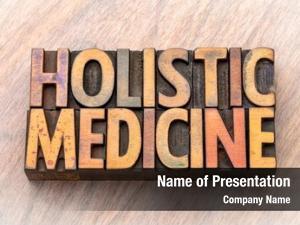 Word holistic medicine abstract vintage