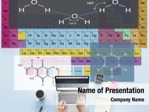 Atom formula experiment chemistry concept