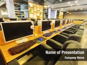 Interior internet cafe