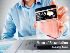 Phone futuristic smart (copy space