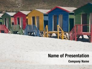 Huts colorful beach beach sunny