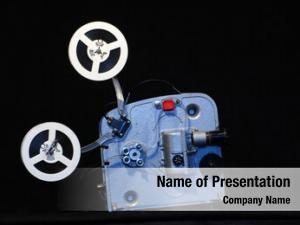 Film vintage portable projector black