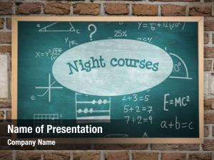 Night chalkboard against courses against