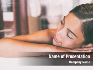 Massage luxury spa asian woman