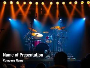 Stage, drum set illuminated stage