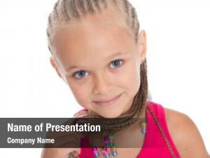 Cute portrait little girl dreadlocks