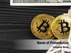 Coin golden bitcoin dollars close