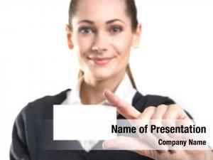 Visit business woman card