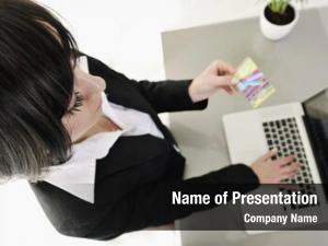 Woman young business making online