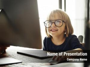 Computer kid surfing internet lifestyle