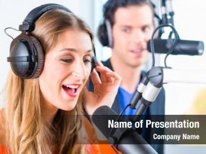 Man presenters moderators woman radio