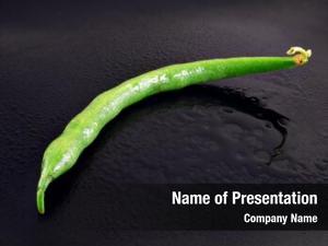 Bean fresh green watery black
