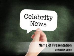 Written celebrity news speechbubble