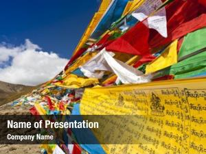 Flags tibet prayer