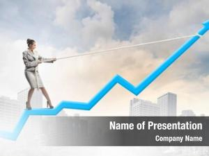 Standing image businesswoman graph