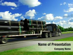Truck fast moving highway delivering