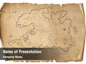 Map treasure medieval