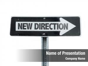 Direction new direction sign white