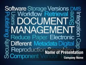 Word document management cloud blue