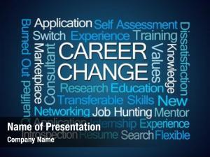 Word career change cloud blue
