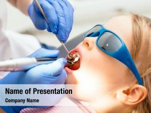 Dental dentist performing procedure little