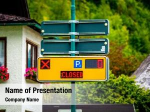 Parking yellow modern sign digital