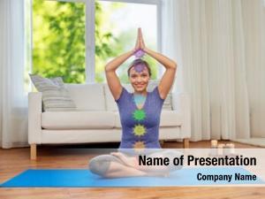 Yoga mindfulness, spirituality concept happy