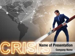 Dealing businessman successfully crisis recession