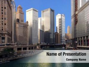 Chicago dramatic image river michigan
