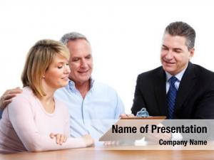 Financial senior couple adviser