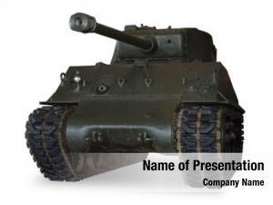 Main american sherman battle tank