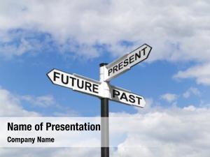 Past concept future present signpost