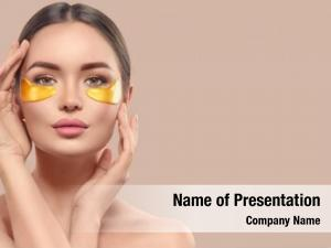 Eye woman under collagen gold