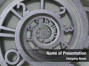 Abstract endless clock, clock concept