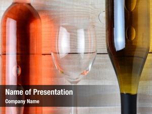 Glass closeup wine between bottle