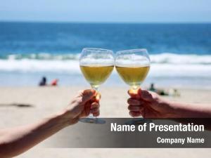Ocean wine toast sand
