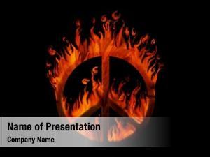 Fire, symbol peace black concept