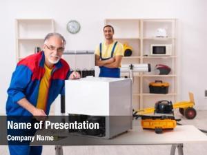 Repairing two contractors fridge workshop