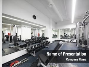 Fitness empty modern center dumbbell