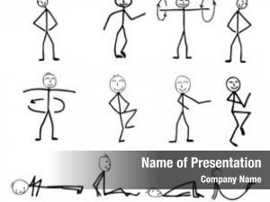 Silhouettes, funny fitness cartoon