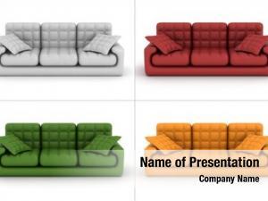 Sofa set leather white