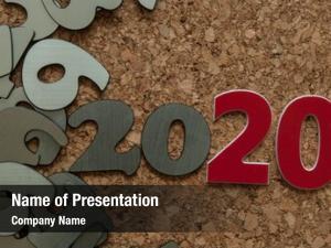 Year digits symbol 2020 many