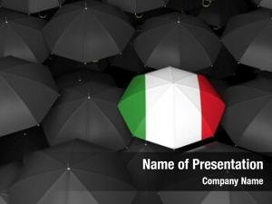 Umbrella bright italian black umbrella