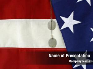 Dog american flag tags