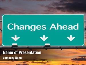 Freeway changes ahead road sign