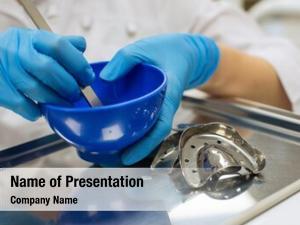 Dentist hands female holding detail